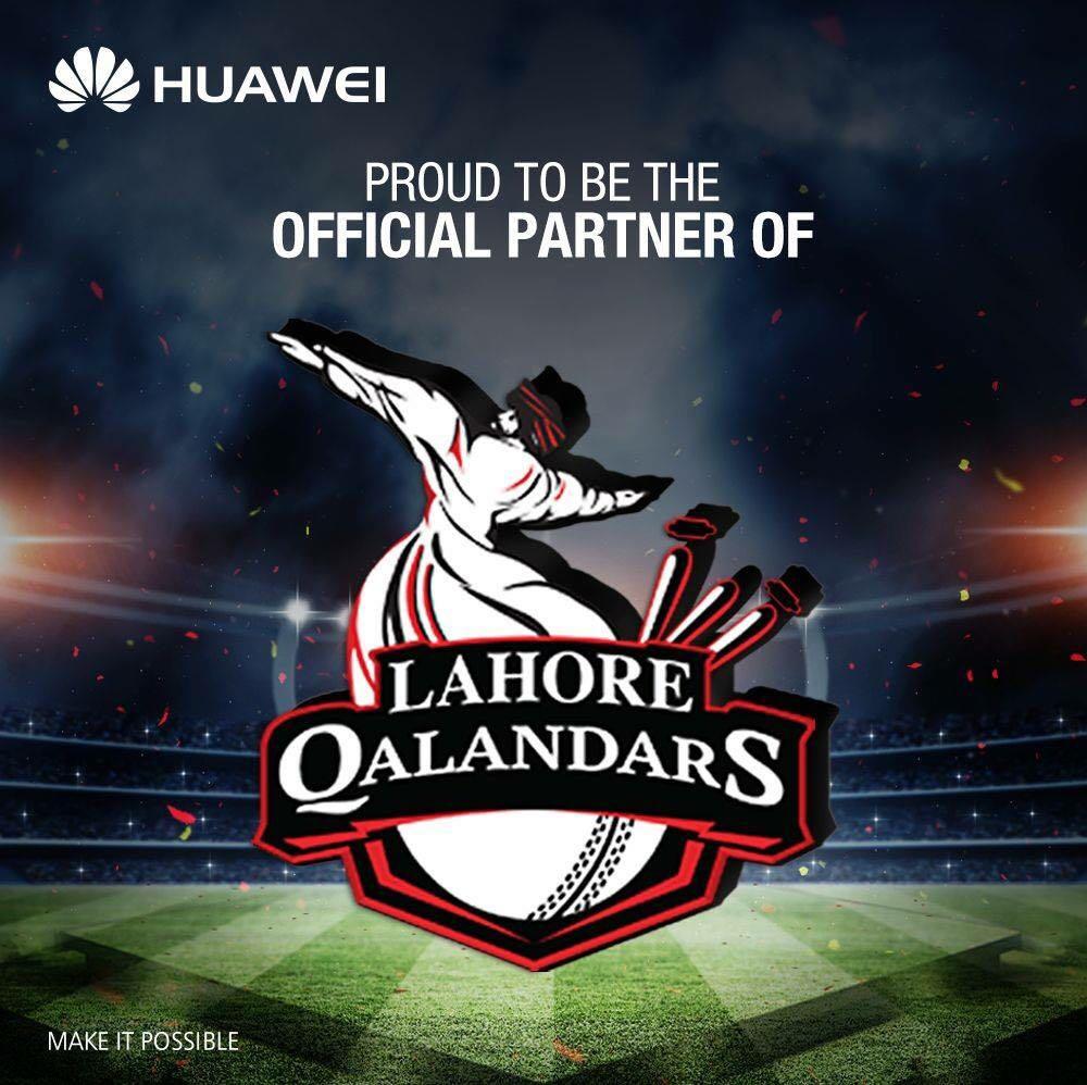 Huawei sponsors 'Lahore Qalandars' cricket team in 'Pakistan Super League'