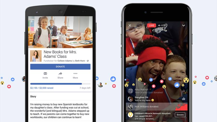 Facebook now enables you to keep fundraisers with friends and family