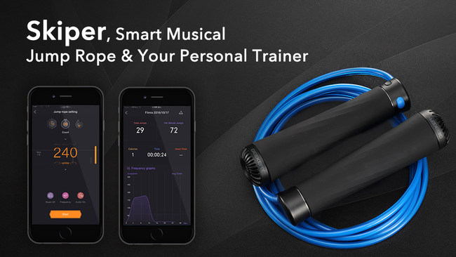 Geekery Announces a Kickstarter Marketing campaign for Skiper – the First Smart Leap Rope With Music and FITNESS Features