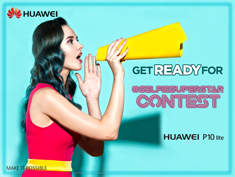 Snap Selfies & Win the Selfie-Superstar – Huawei P10 Lite