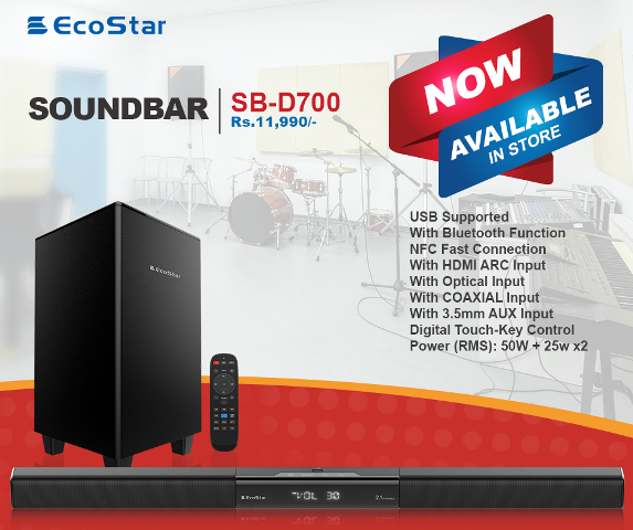 Pristine sound quality with EcoStar's Sound Bar Systems