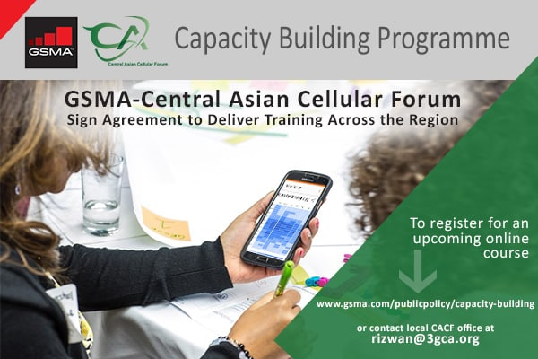 GSMA-Central Asian Cellular Forum Sign Agreement to Deliver Training Across the Region