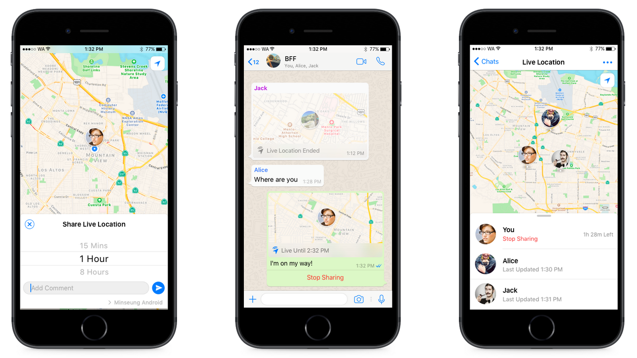 After Telegram, WhatsApp presents Live Location sharing for Android os and iPhone