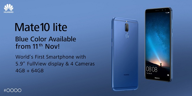 The Exciting HUAWEI Mate 10 lite Now Available in Aurora Blue