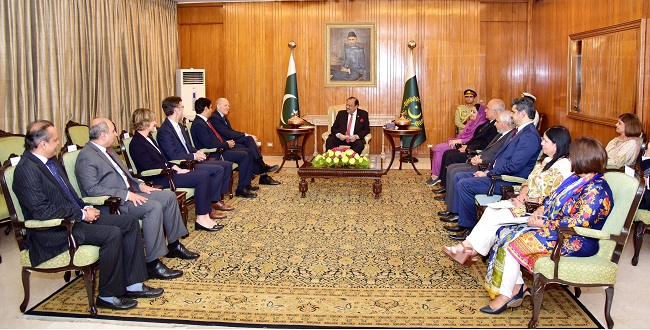 President & CEO Telenor Group Visits Pakistan, calls on President Mamnoon Hussain