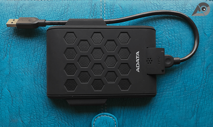 Durable ADATA HD720 external hard drive is waterproof, dustproof, and shock-resistant