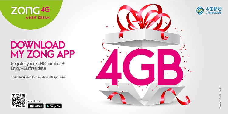 My Zong App Offers App-Mazing Features with free 4GB data