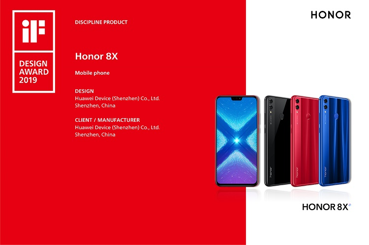 "HONOR 8X - THE SMARTPHONE BEYOND LIMITS WON THE TITLE OF ""DISCIPINE PRODUCT"" AT THE iF INTERNATIONAL FORUM DESIGN AWARDS 2019"