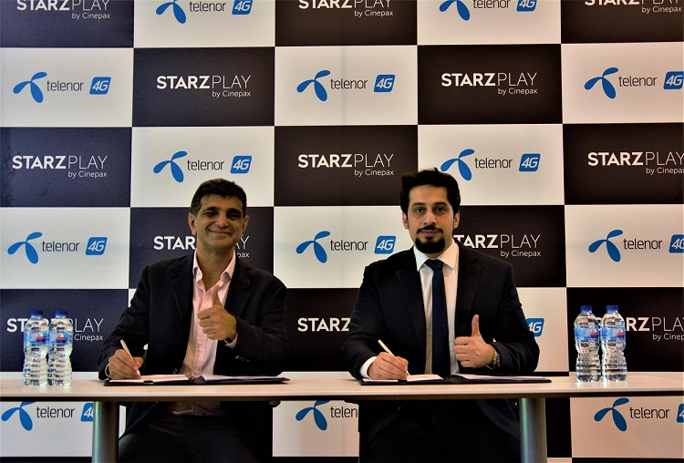 Telenor Pakistan joins hands with STARZ PLAY by Cinepax to bring exciting content experience to users