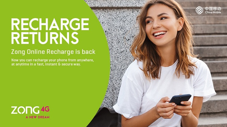 Recharge is now online with Zong 4G