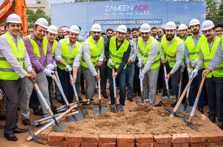 Ground broken for Zameen Developments' latest project Zameen Ace Mall in DHA Islamabad