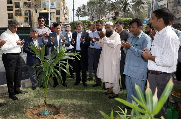 Pakistan State Oil marks Plant for Pakistan Day