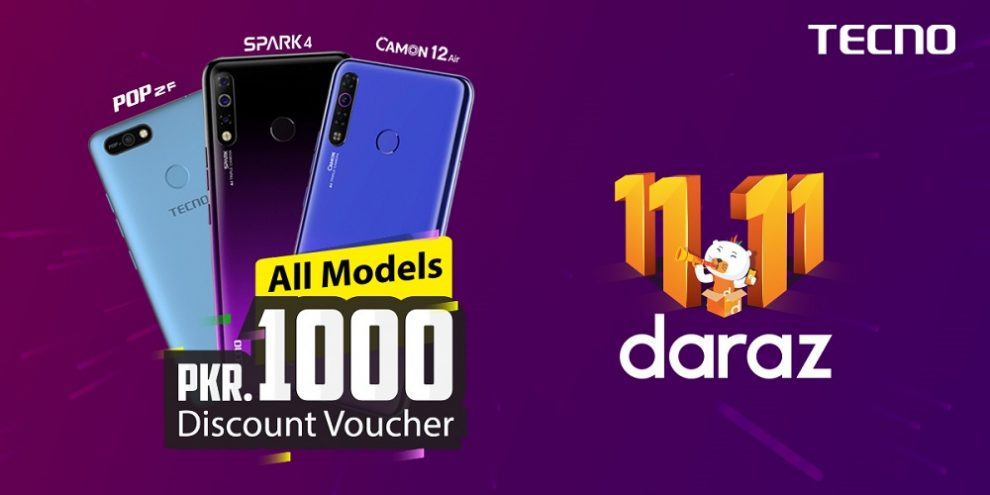 TECNO offers exceptional discounts on Daraz Gyara Gyara