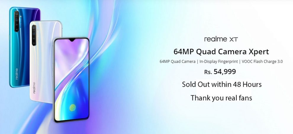 64MP Quad camera beast realme XT completely sold out within 48 hours