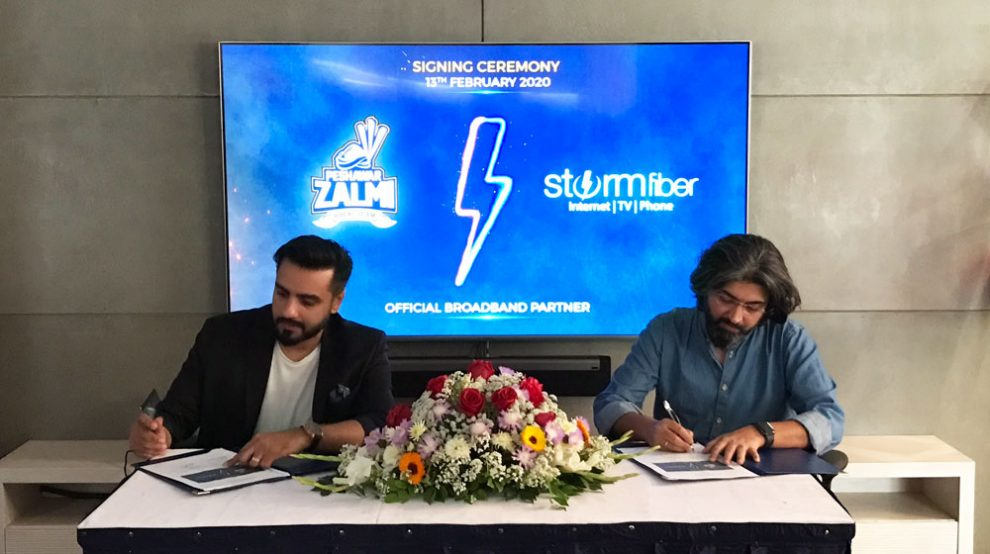 StormFiber joins forces once again with Peshawar Zalmi, becomes its official broadband partner for PSL 5