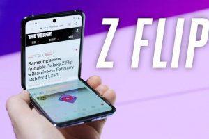 Samsung Galaxy Z flip A foldable smartphone