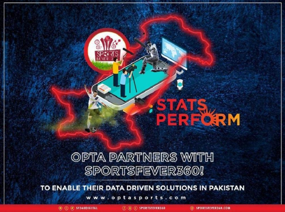 Sportsfever360 and Stats Perform (OPTA) embarks on a new journey of stats data in Pakistan