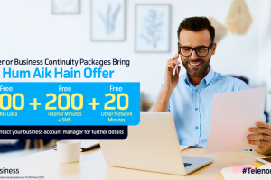 Telenor Pakistan offers' Business Continuity Packages' to support business community