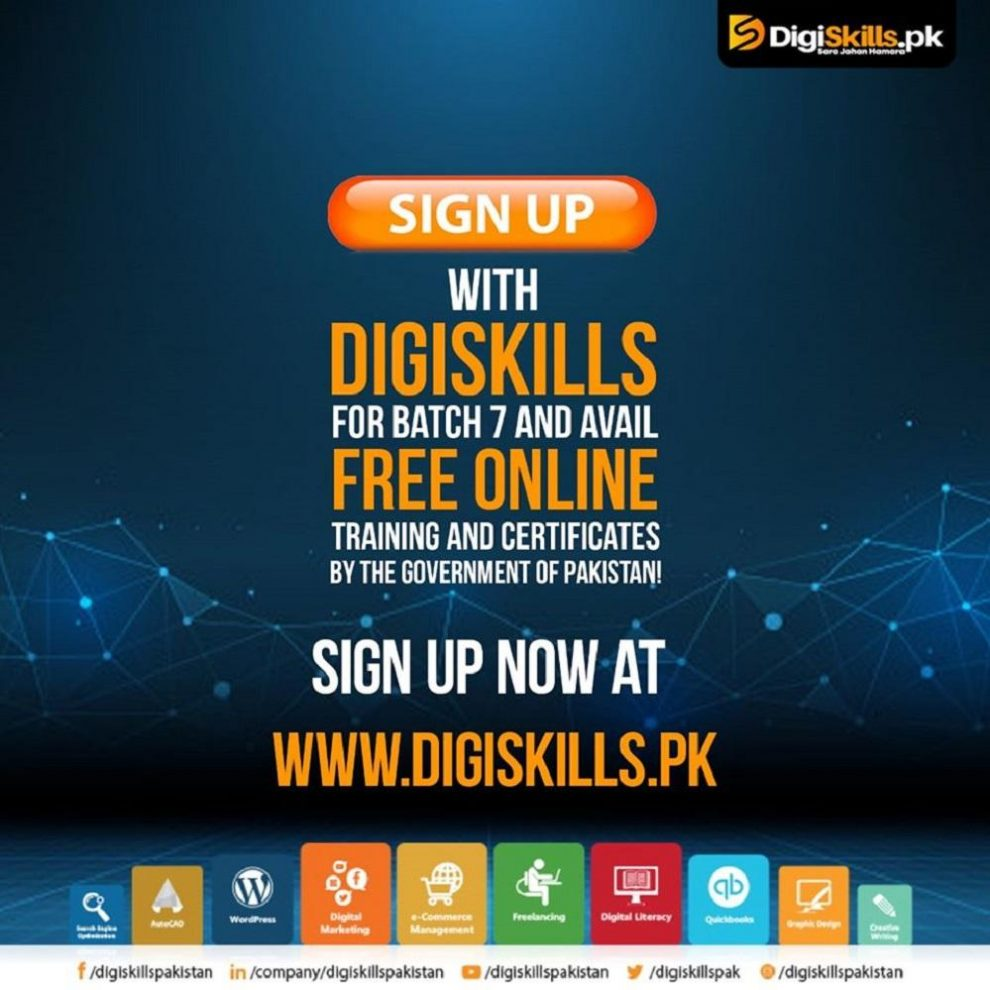 DigiSkills open Enrollments for Free online courses in Batch 7