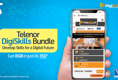 Telenor Pakistan offers subsidized internet bundle to enable DigiSkill trainees in their learning journey