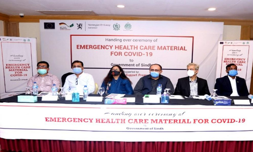 TVET Sector Support Programme Hands Over 50,000 PPE kits and 40,000 Surgical Masks To Government Of Sindh