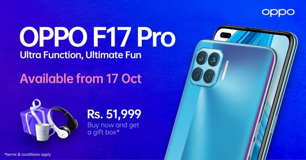 Ultra-Function, Ultimate Fun OPPO F17 Pro will be Available from 17th October 2020