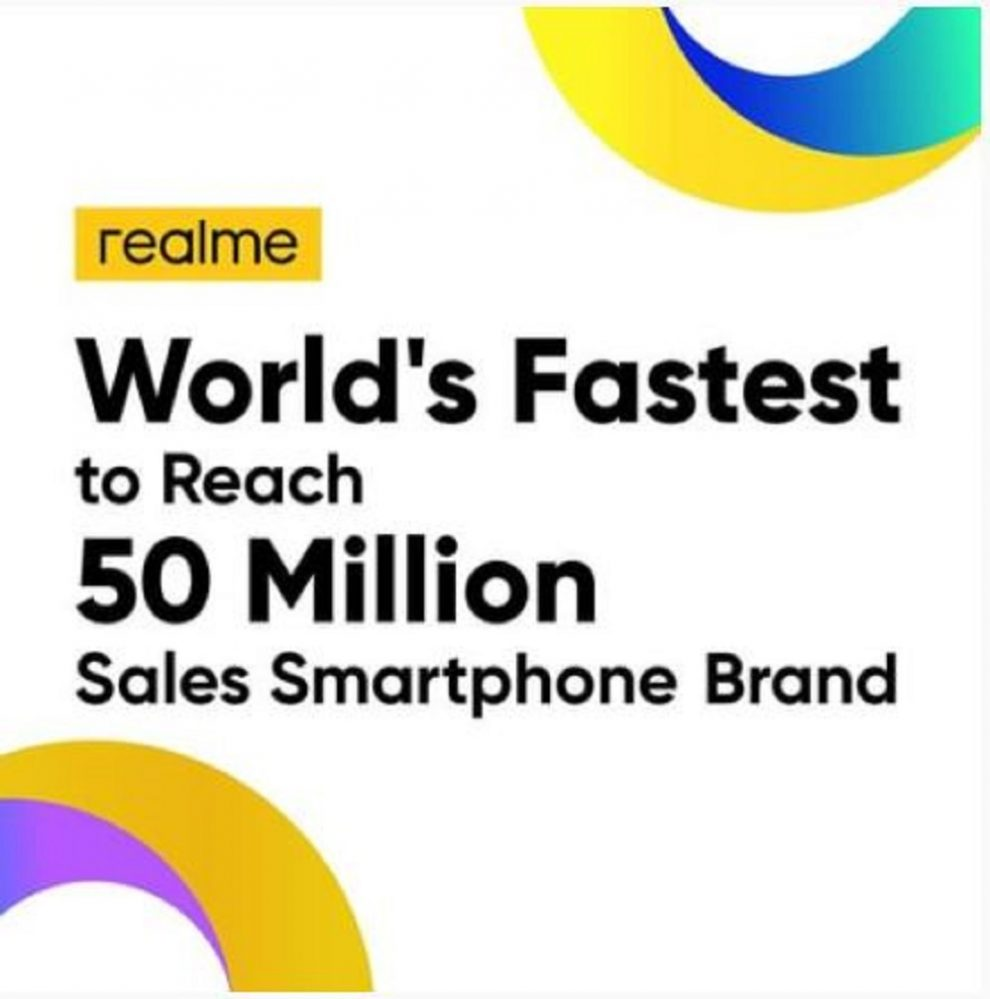Realme leapfrogged growth in 2020 with its 50 million units sold