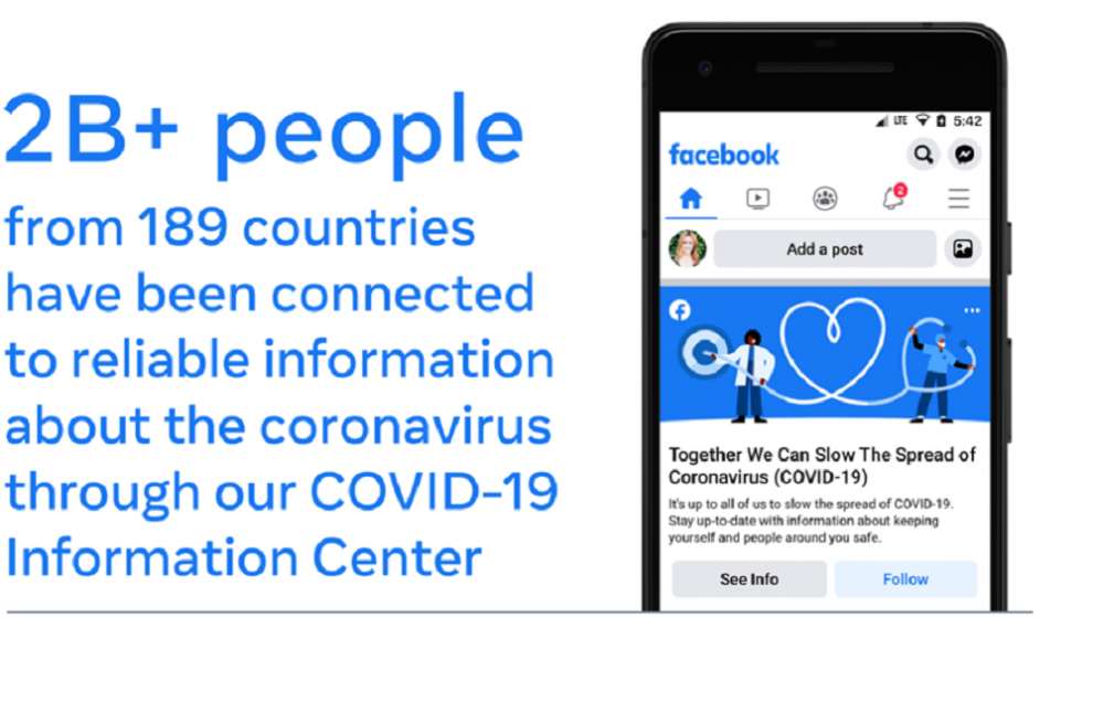 Facebook releases update regarding reaching billions of people with COVID-19 Vaccine information