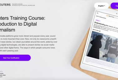 Reuters launches the Reuters Digital Journalism Course, in partnership with the Facebook Journalism Project